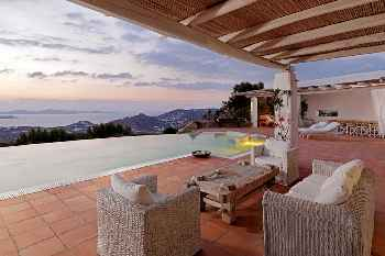 Amazing Villa Sunset Mykonos, exceptional location and view, sunset over the island of Delos, 6 Bedrooms 6 Bathrooms, Private Pool, Up to 14 Guests