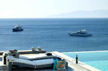 Large Luxury Villa Luxfinity Mykonos Superbly Located in the most Vivid Area of the Island 8 BR 8 BATHR, with Private Pool, Up to 20 Guests !
