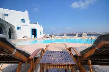 Villa Space Mykonos, 4 Bedrooms 4 Bathrooms, Private Pool, Up to 10 Guests Facing Mykonos town, Villa Space, enjoys sea and charming town harbor view
