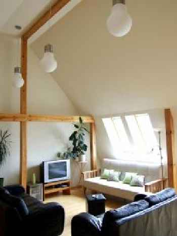 Sunlit Loft Apartment Riga 201