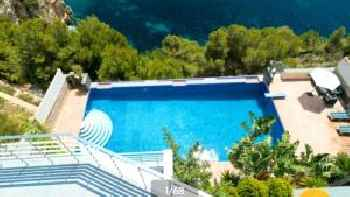 villa with 4 bedrooms in xàbia, with wonderful sea view, private pool, enclos...