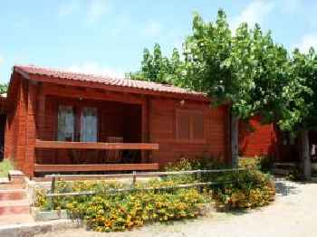 Attractive bungalow with a covered terrace, 1 km. from beach 220