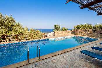 Sea Views at Villa Kimothoe with Large Pool